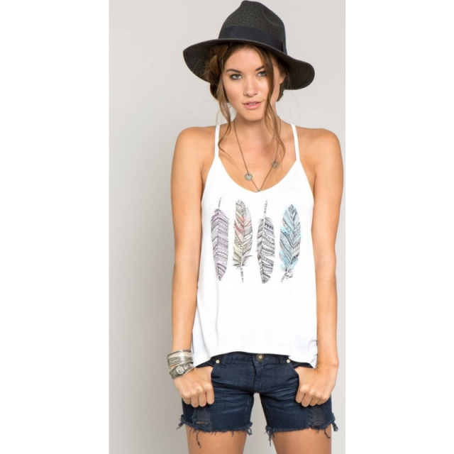 O'Neill - Womens Feather Weather Tank - Closeout White Large