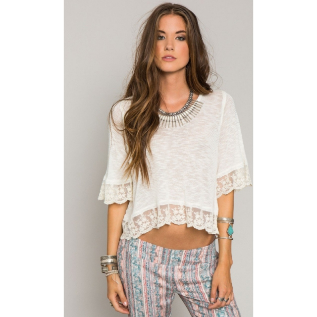 O'Neill - Womens Lakeside Crop Top - Sale Winter White Medium