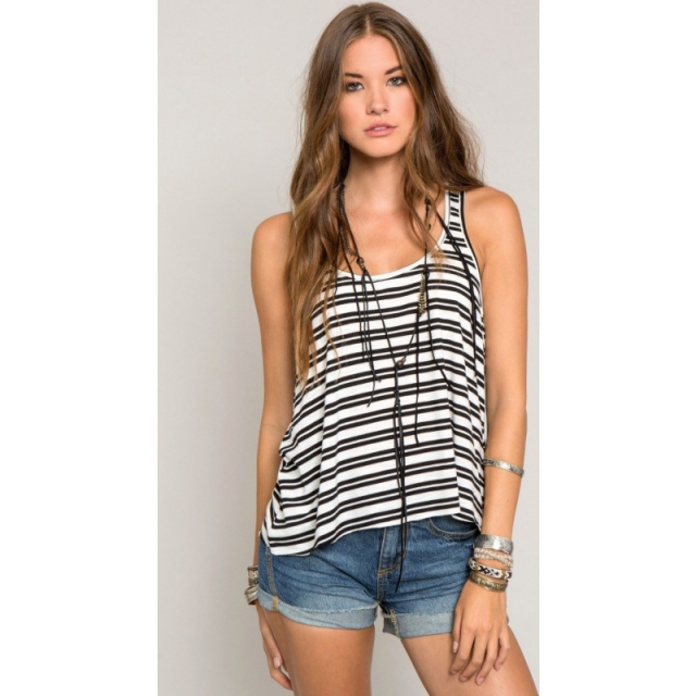 O'Neill - Womens Waverly Tank - Sale Black Medium