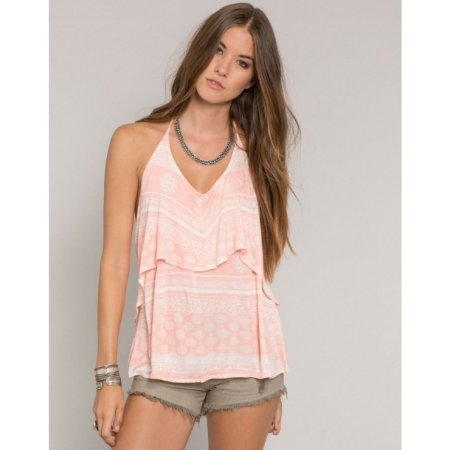O'Neill - Womens Nadine Tank - Closeout Coral Small