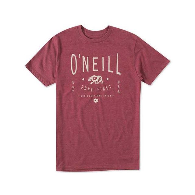 O'Neill - Bearclaw Short Sleeve Tee - Men's: Deep Red, Medium