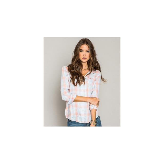 O'Neill - Norma Flannel Shirt - Women's-Pink/Light Blue-L