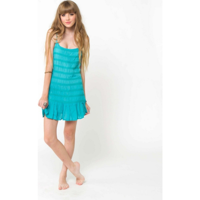 O'Neill - Womens Chantel Dress - Closeout Teal Small