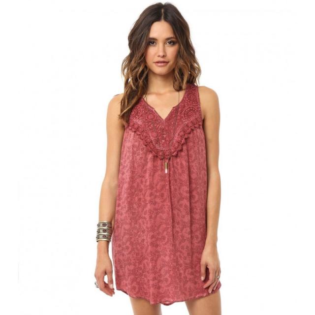 O'Neill - Womens Myla Dress - Closeout Clay Large