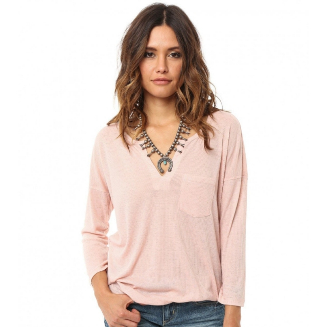 O'Neill - Womens Daphne Top - Closeout Rose Large