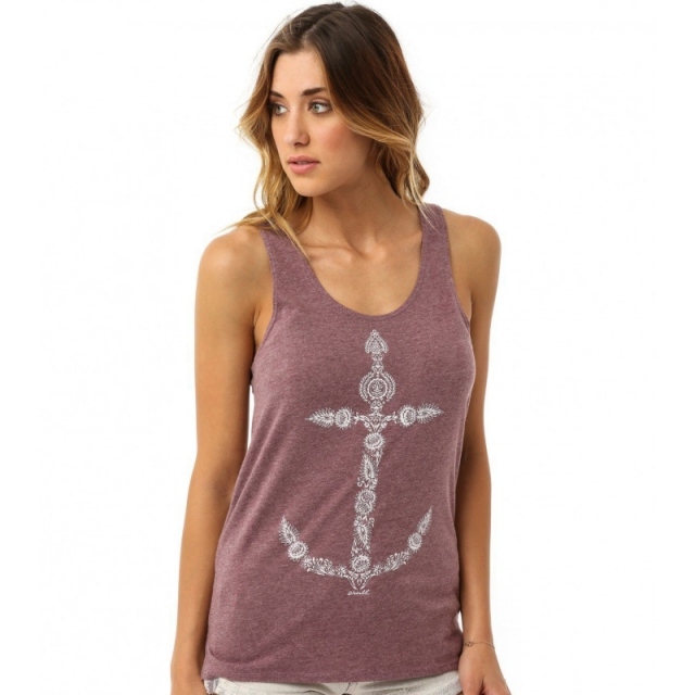 O'Neill - Womens Anchor Bay Tank - Closeout Hthr Red Medium