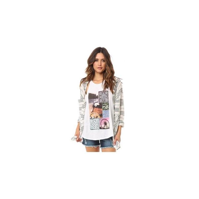 O'Neill - O'Neill Zion Shirt - Women's-White/Black-XS/S