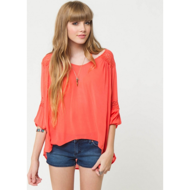 O'Neill - Womens Harlow Top - Sale Coral Large