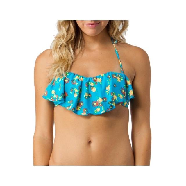 O'Neill - Daisies Ruffle Bikini Top - Women's: Blue, Large