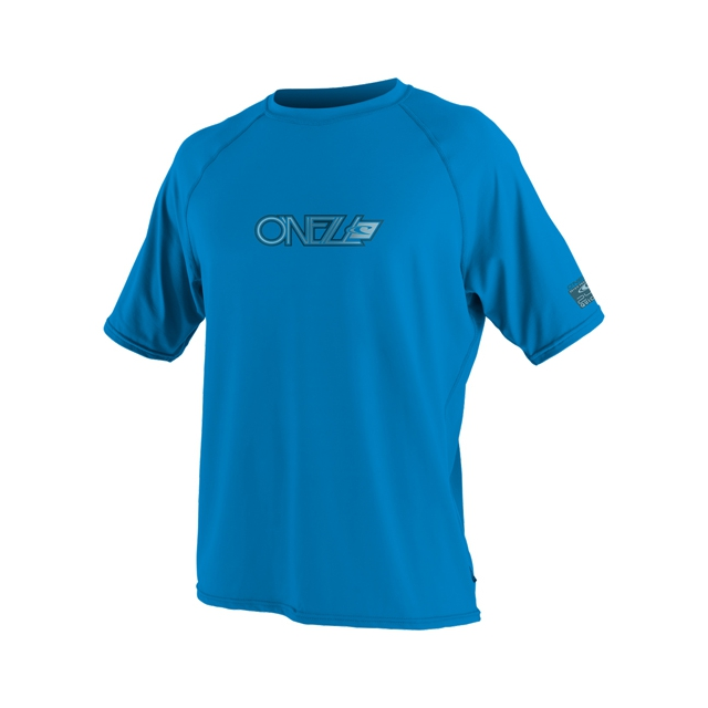 O'Neill - 24/7 Tech Short Sleeve Crew Rashguard - Men's: Brite Blue, Large