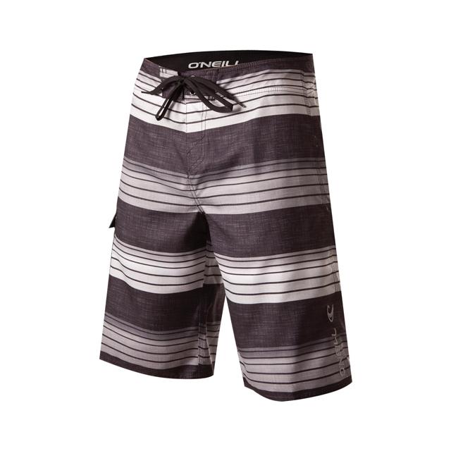 O'Neill - Santa Cruz Stripe Board Shorts - Men's: Black, 32