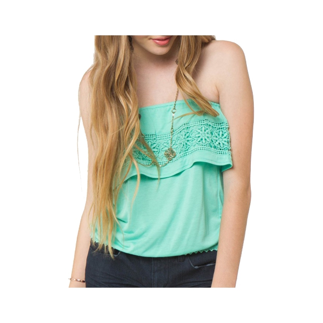 O'Neill - Rosa Tiered Tube Top - Women's: Spearmint, Extra Small