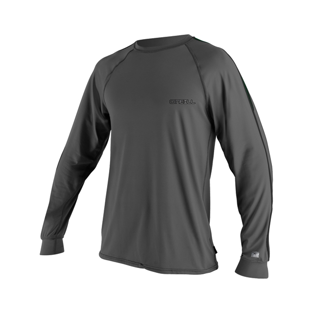 O'Neill - 24/7 Tech Long Sleeve Crew Rashguard - Men's: Graphite/Combat/Black, Medium
