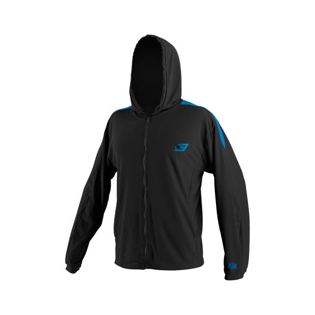 O'Neill - 24/7 Tech Zip Hoodie - Men's: Black/Bright Blue/Black, Medium