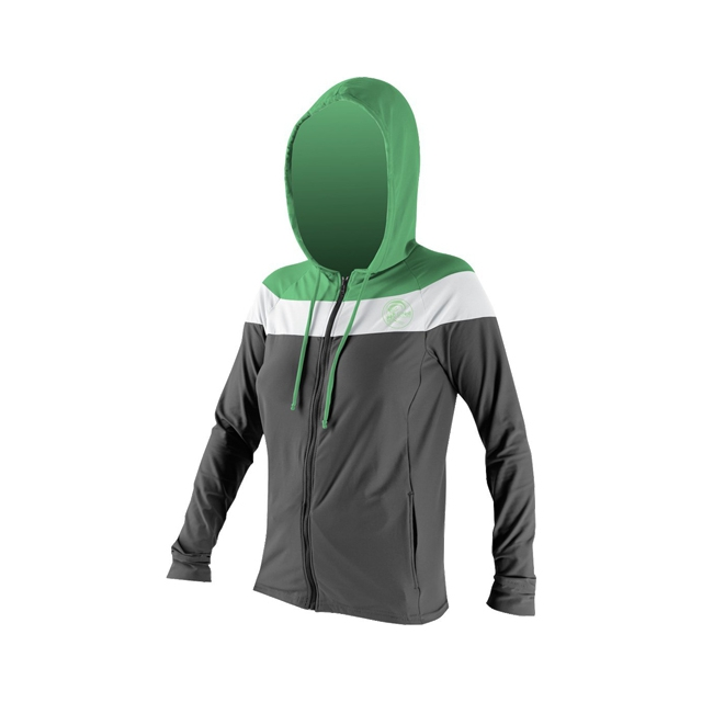 O'Neill - 24/7 Tech Long Sleeve Zip Hoodie - Women's: Graphite/White/Mint, Small