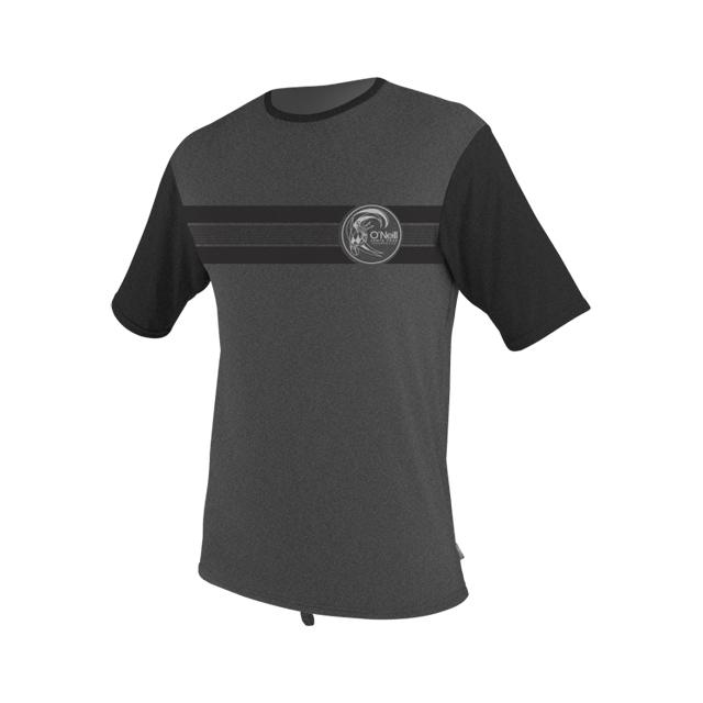 O'Neill - Skins Short Sleeve Graphic Rash Tee - Men's: Black/Lunar, Medium