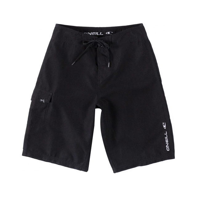 O'Neill - Santa Cruz Solid Board Shorts - Boy's: Black, 22