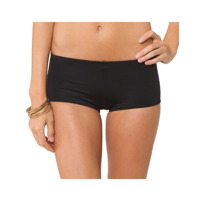 O'Neill - Solids Boy Shorts - Women's: Black, Small