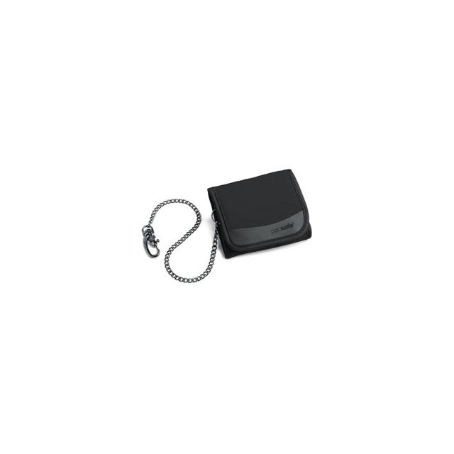 Pacsafe - Walletsafe 100 Tri-Fold Travel Wallet - Black