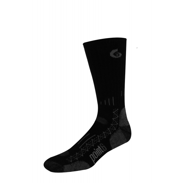 Point6 - Boot Tech Medium Crew Sock - Black - Large