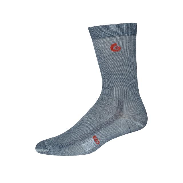 Point6 - Hiking Core Medium Crew Sock - Gray - Large