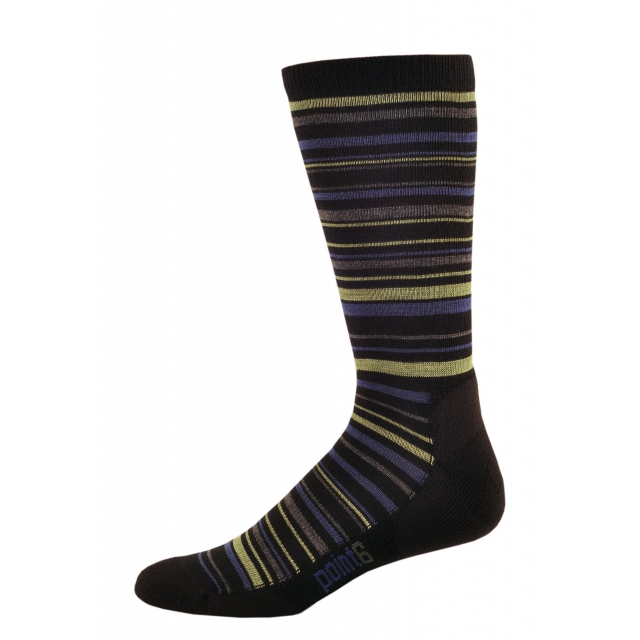 Point6 - Half Stack Light Crew Sock - Black/Leaf - Large