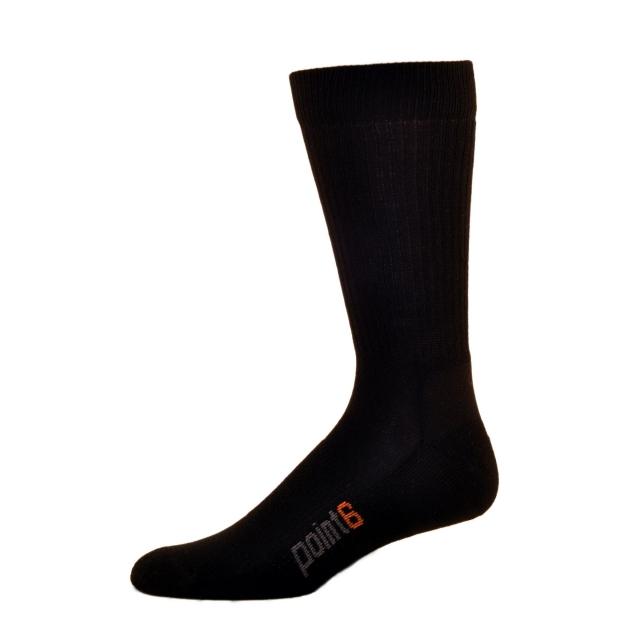 Point6 - Lifestyle Light Crew Sock - Black - Large