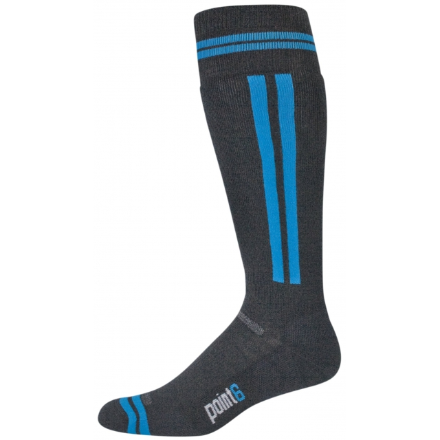 Point6 - Snowboard Rail Light Cushion Over the Calf Sock - Black/Turqoise Small