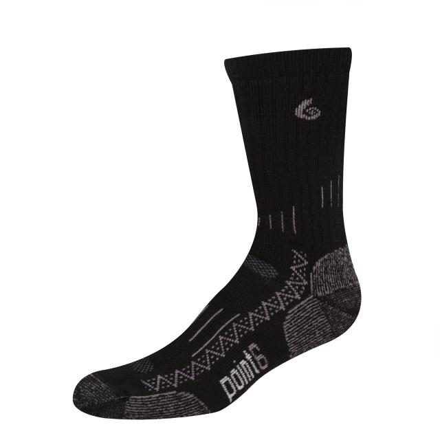 Point6 - Trekking Tech Heavy Crew Sock - Black Small