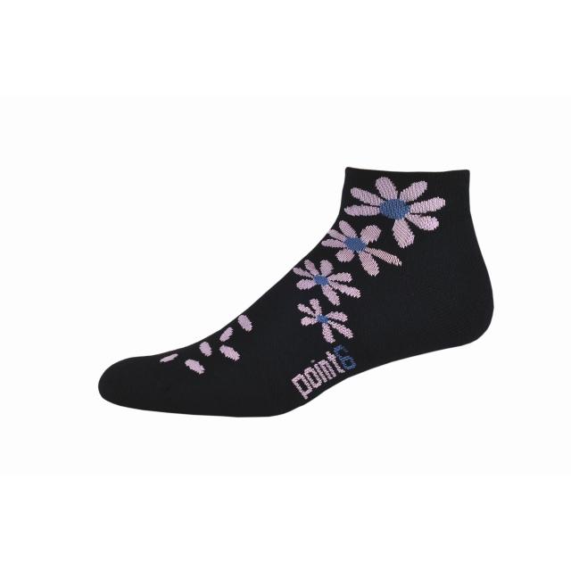 Point6 - Wildflower Extra Light Mini Crew Sock - Women's Black Medium