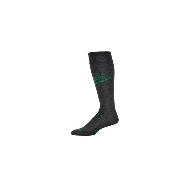Point6 - Ski Phoenix Ski Sock Adults', Gray/Bright Lime, M