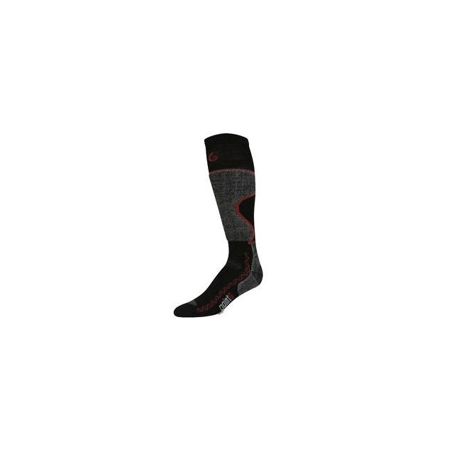 Point6 - Pro Light Ski Sock Adults', Black/Silver, S