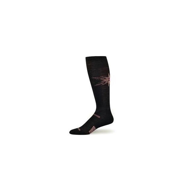 Point6 - Ski Pro Light Sock Women's, Black/Pink, S
