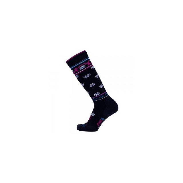 Point6 - Medium Flourish Sock Women's, Black, L