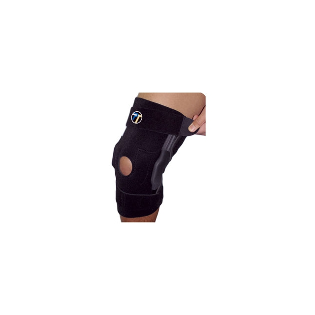 Pro Tec - Pro-Tec Hinged Knee Brace - Black In Size