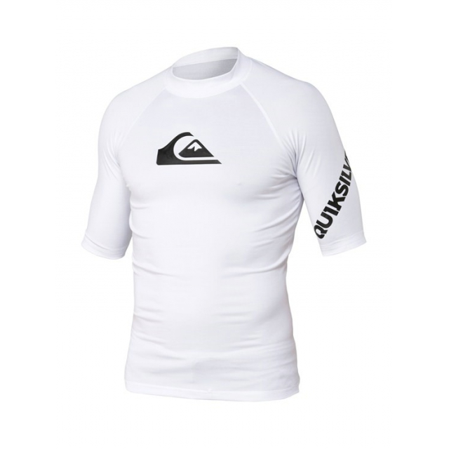 Quiksilver - Men's All Time SS Rashguard Bright White M