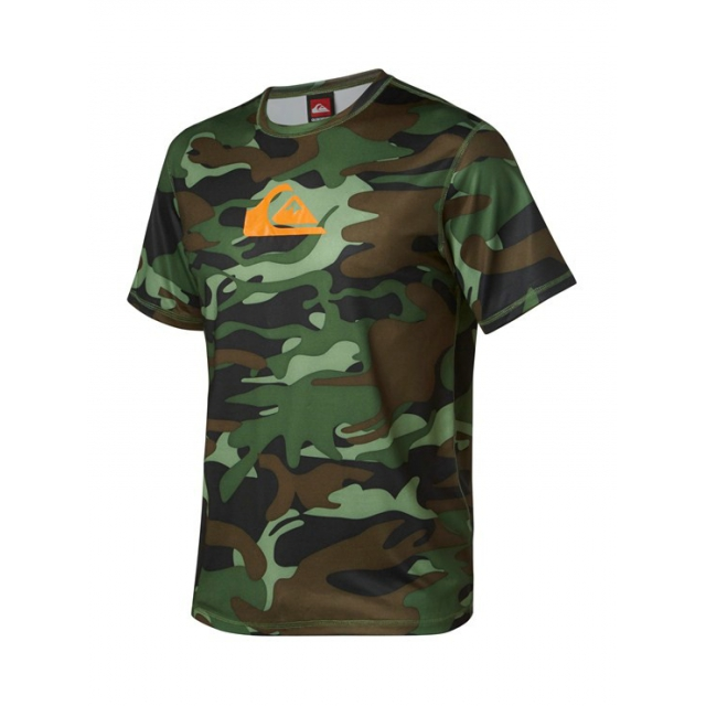 Quiksilver - Men's Dust Buster SS Rashguard Meadow Green-6 Camo