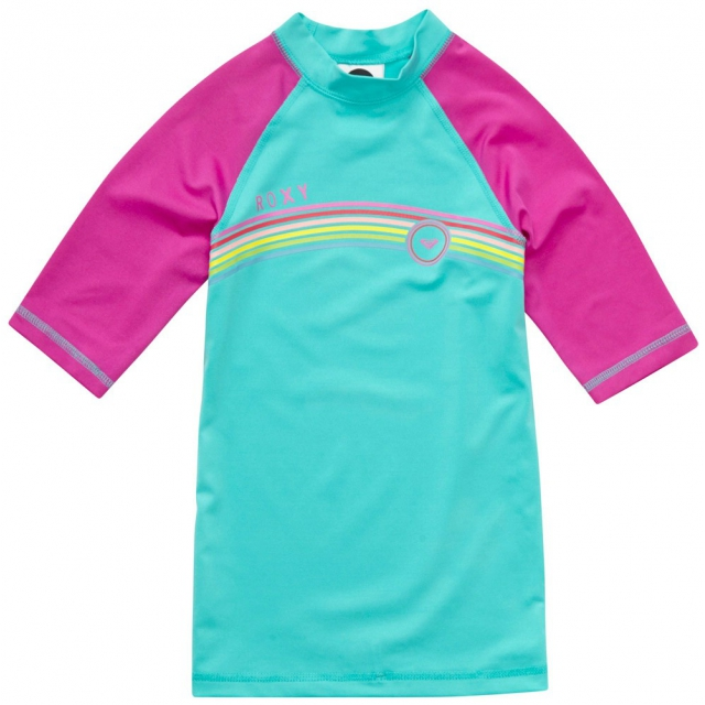 Quiksilver - Girl's From Above SS Rashguard Turquoise