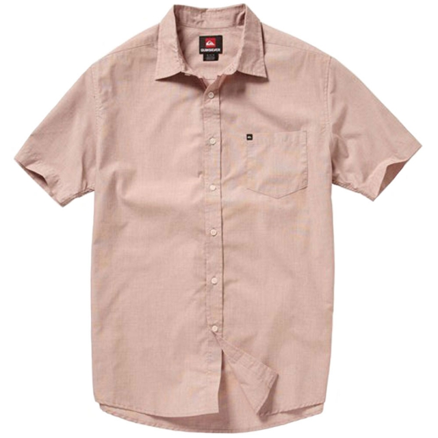 Quiksilver - Allman Short Sleeve Shirt Mens - Baked Clay S