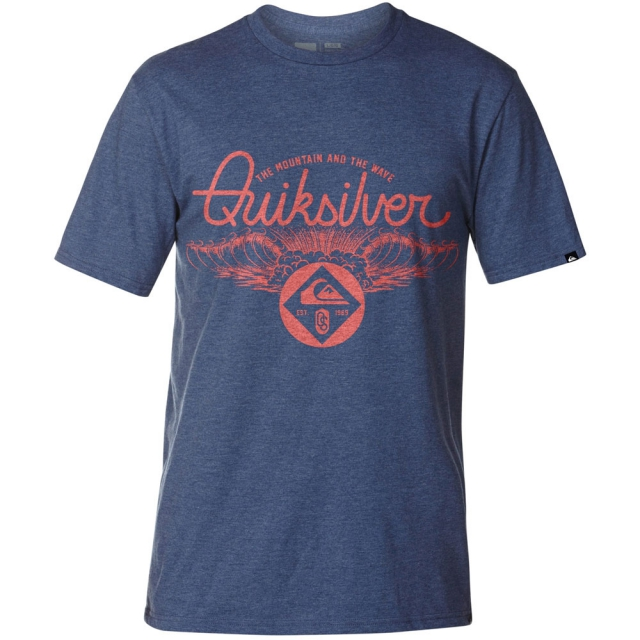Quiksilver - A Frames T-Shirt Mens - Estate Blue Heather M