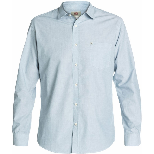 Quiksilver - Allman Long Sleeve Shirt Mens - Bluestone M