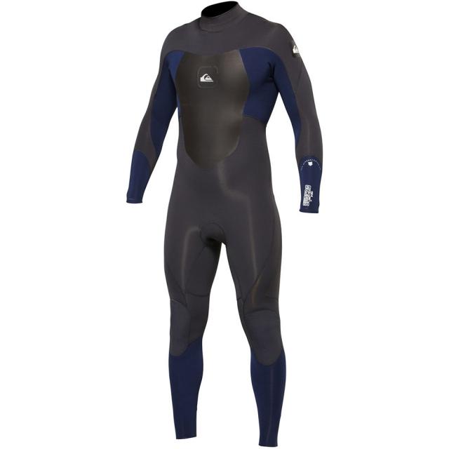 Quiksilver - Synchro 3/2 Back Zip Wetsuit Mens - Black/Blue S
