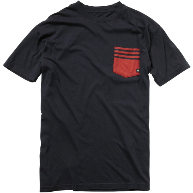 Quiksilver - Tips Slim Fit Pocket T-Shirt Mens - Antrhacite M