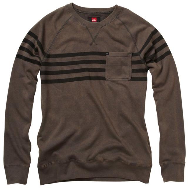 Quiksilver - Ayers Sweatshirt Mens - Dark Shadow Stripe M