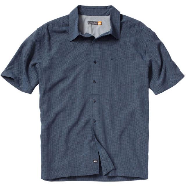 Quiksilver - Short Sleeve Dunes Shirt Mens - Midnight Navy Solid L