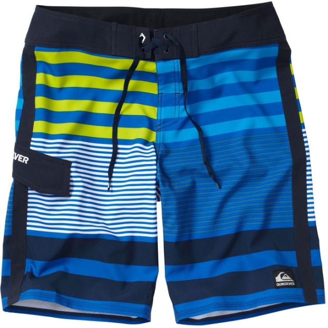 "Quiksilver - Sliding In 21"" Boardshorts Mens - Nautical Blue Stripe 30"