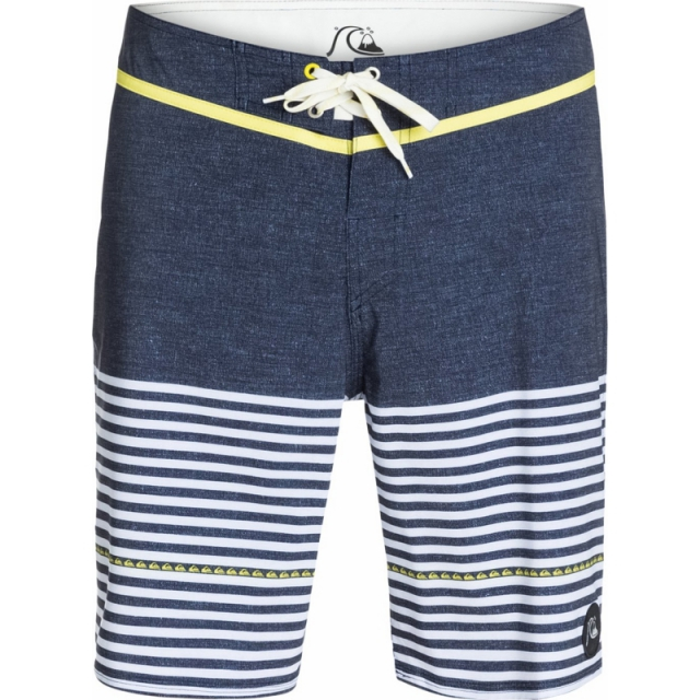 Quiksilver - Mens East Side Stripe 19 in Boardshorts - Sale Navy Blazer