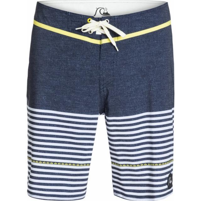 Quiksilver - Mens East Side Stripe 19 in Boardshorts - Sale Navy Blazer