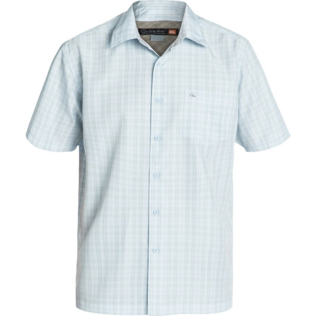 Quiksilver - Mens Rockingham Bay Short Sleeve Shirt - Sale Sky Medium