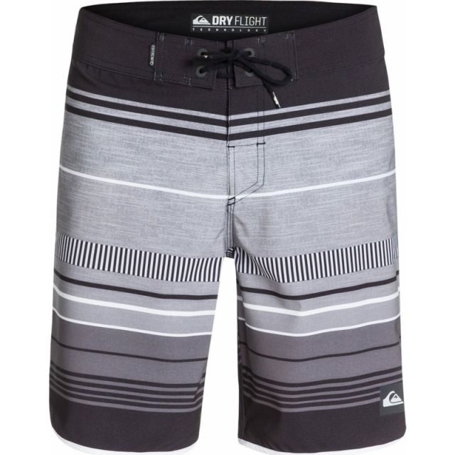 "Quiksilver - Mens AG47 Pacific Stripe 19"" Boardshorts - Sale Pacific Stripe Black"